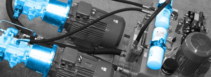 Hydraulikaggregatbau mit Elektromotoren